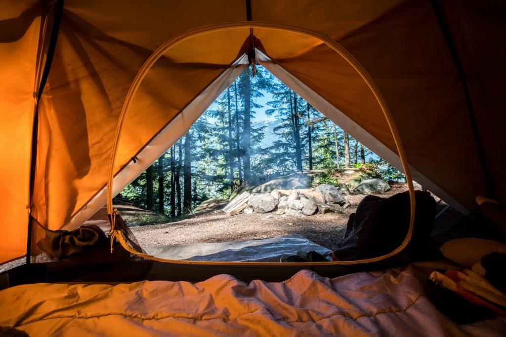 elevating a tent