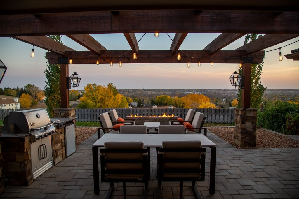 can you grill under a covered patio