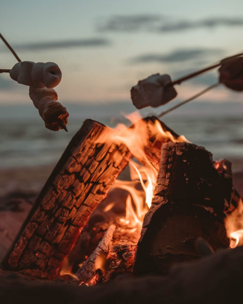 can you leave a fire pit burning overnight